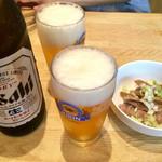 くり山 - ビールが美味いのよ…ツマミはサービス