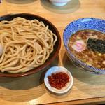 くり山 - 味玉つけ麺、辛味付き