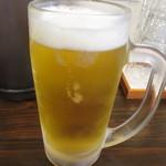 鶏そば カヲル - 生ビール