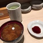 すし将軍 - 魚のアラのお味噌汁で美味しい^ ^