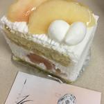 フランス菓子16区 - 桃のショートケーキ(^_^)