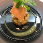 ヴェルフォンセ - デザート パイナップルのタルトタタン☆★★☆ココナッツのジェラート