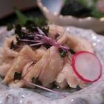 72095877 - 「薩摩地鶏鶏皮ポン酢和え」