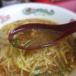 かどや飯店 - ☆ピリ辛スープ!(^^)!☆