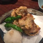 桃酔 - いわしの天ぷら梅肉巻き