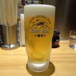 らあめん花月嵐 - 生ビール(500円)