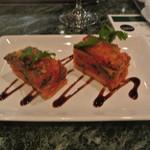 オールドサルーン1934 - いわしと茄子の重ね焼き バルサミコソース