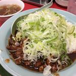 菜苑 - 純レバ丼¥1100(スープ付き)