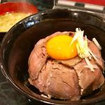 ささめ - ランチの「ローストビーフ丼」(800円)