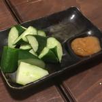 わら焼き部 - ゆず味噌胡瓜 390円