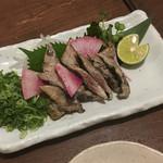 わら焼き部 - 秋刀魚のわら炙り 590円