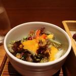 ヒトシナヤ - 水菜、トレビス、ピンクロッサ、コーン、枝豆、パプリカのサラダアップ