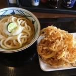 丸亀製麺 - おろし醤油&かき揚げ&天ぷら