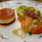 ポワン ドゥ デパー - 有機トマトのムース ガトー仕立て