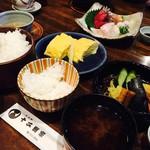 72109537 - すずしろ(¥1,134)                       お漬物盛合せ.だし巻き.お味噌.ご飯.