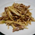 72109607 - マコモ茸と豚肉の細切り炒め