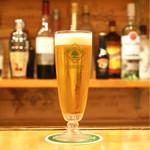 立呑み ほるもんBar おかだ - ☆生ビール 480円