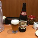 天ぷら 豊野 - 中瓶500円 ラガー、一番搾り、スーパードライから選べます