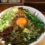 らー麺 きん - トッピングの辛みとマヨネーズが入った台湾まぜそば(並)('17/08/27)