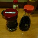 得一 - 普通の醤油とたまり醤油