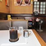 カフェ&バー 琥珀 - アイスコーヒーはU.COFFEE(税込400円)
