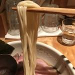 中華蕎麦 蘭鋳 - 【2017.7.28】固茹での細麺。