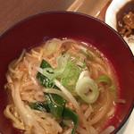 バックヤードグリル - 料理写真:味噌ラーメン!これがなかなか美味しかった♪