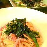 リマプル - トマト・菜の花・ベーコンのパスタ