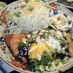 きらめき亭 - 料理写真:温玉味噌カツ定食ロース160g