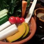 72134585 - 彩り野菜のバーニャカウダ