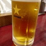 まるきんラーメン - ドリンク写真:生ビール