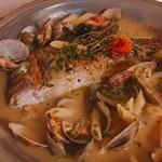 ばりお食堂 - 真鯛のアクアパッツァ