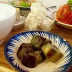 ノムカフェ - 揚げだし茄子 甘じょっぱい味がツボ!
