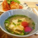ノムカフェ - 卵とトマトのスープ