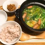 ミルナーナ - ごろごろ野菜のポトフ・納豆・ご飯
