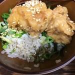 長田屋 - 鶏天丼つゆだくっぽい