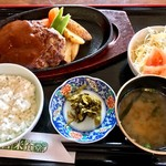 善米食堂 - ジャンボハンバーグ定食 1700円