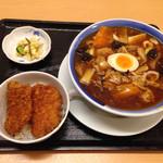くいどころ里味 - うま煮麺とタレカツ丼セット