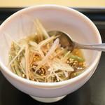 鮨おおね田 - 青森の蓴菜
