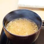 鮨おおね田 - ボタン海老のお味噌汁