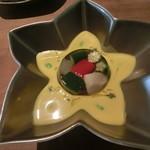 Resutoranyonemura - かぼちゃの冷製スープ夏野菜のゼリー寄せ、
