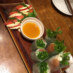 SHINJYUKU RAMBUTAN - パクレーゼと生春巻き 以降緑色の野菜はすべてパクチーです