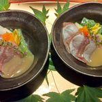 北新地個室 松六 - 炙り鮮魚と旬野菜の酢味噌和え