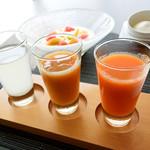 ウトコ オーベルジュ&スパ - 3種のジュース