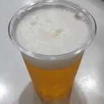 海老の泡雪 - 生ビール小 200円