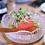 うどん酒場 香川一福 - 冷やしトマト 一福スタイル