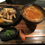 山元麺蔵 - かけうどんと ごぼう天