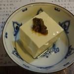 味のそば兵衛 - ふき味噌の乗った豆腐
