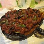 魚のまるた - 米茄子田楽にはカツオを加える一手間が足されてました、魚と野菜のコラボレーション。
