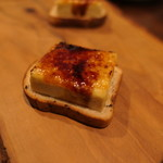 72160140 - フォアグラのブリュレとエスプレッソの食パン